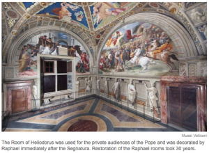 View of the Room of Heliodorus in the Vatican Papal Apartments