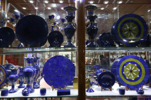 Lapis lazuli at a shop in Kabul. The lapis trade was valued at about $125 million a year in 2014. Credit Rahmat Gul/Associated Press