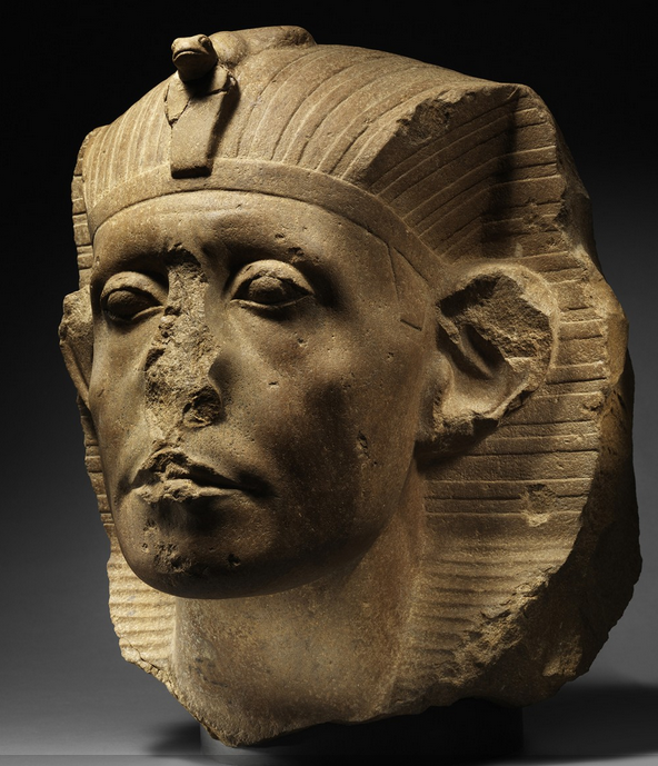 By the middle of the 12th Dynasty, Egyptian kings such as Senwosret III were being depicted with strongly individual features, including marks of age and care. It was a remarkable development within a tradition that previously presented idealized images of the ruler, young, and often with a gentle or enigmatic smile. Anna-Marie Kellen/Nelson-Atkins Museum of Art)