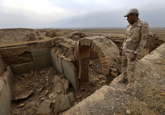 The discovery of treasures in Nimrud's royal tombs in the late 1980s was one of the 20th century's most significant archaeological finds. (Hussein Malla/AP)